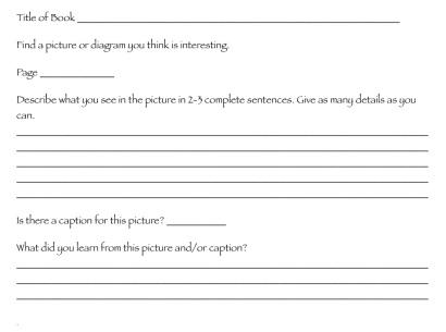 nonfiction diagrams and captions