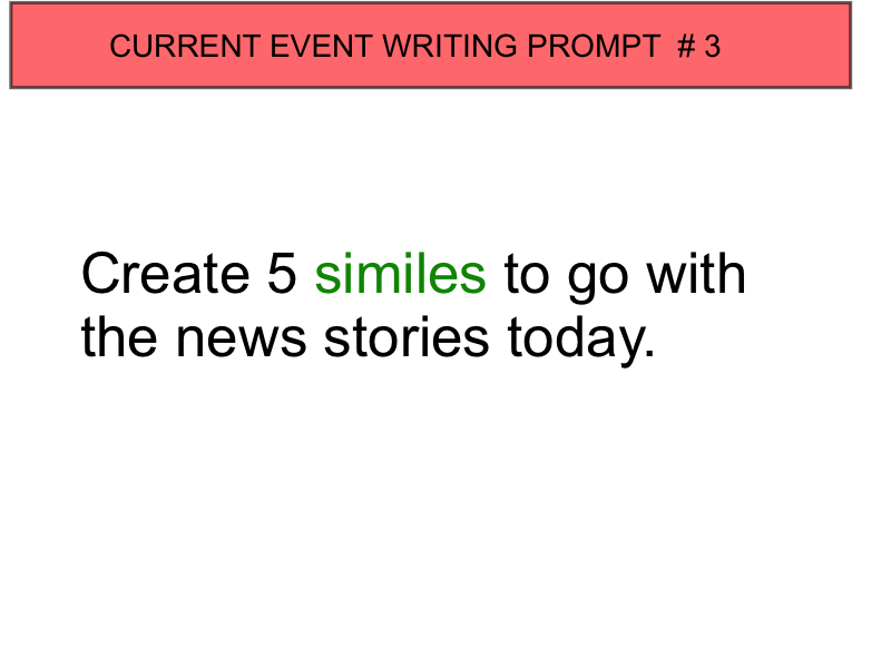 current events writing prompts