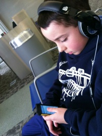 Hanging out in the airport was much more fun with a new iPod Touch from Santa!