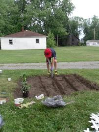 Preparing to plant.