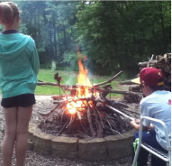 S'mores at Pa's house