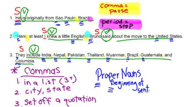 Subject Predicate Mentor Sentences