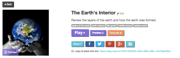 Kahoot Earth's Interior